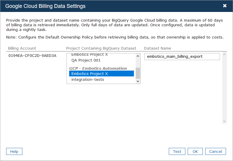 Retrieving GCP Billing Data