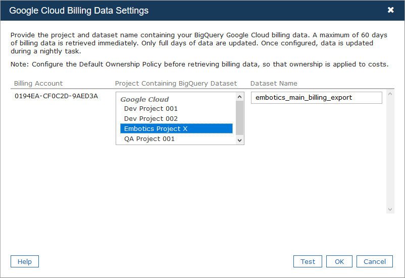 Retrieving GCP Billing Data