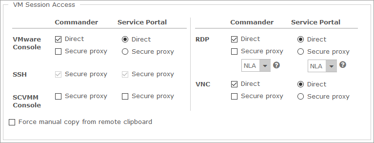 Configuring the VM Access Proxy for Secure VM Connections